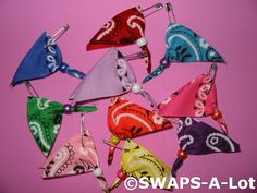 SWAPS-A-Lot - Mini Bright Bandana SWAP SWAPS Kit for Girl Kids Scout (50)