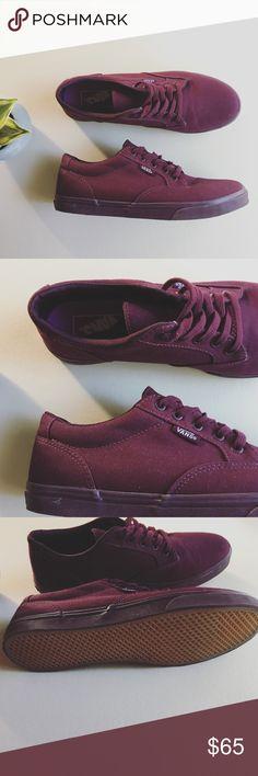 vans authentic skate shoe burgundy monochrome