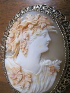 Vintage Beautiful Bacchante Shell Cameo Brooch Pin or Pendant | eBay