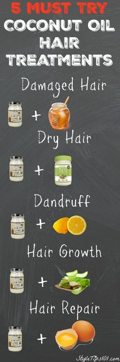 coconut oil hair treatments