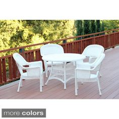 Shop for 5-piece Resin Wicker Dining Set. Get free delivery at Overstock.com…
