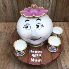 Mrs Potts & Chip cake by Olivia's Cake Boutique