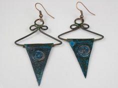 Patina hangar earrings