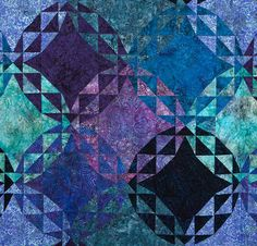 RJR Malam Batik Echoes by Jinny Beyer Quilt - White