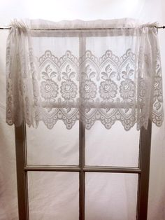 French Country Valance Roosters Chickens Window Treatment - French country valances