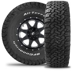 BF Goodrich all terrain t/a KO2. Probably one of the best all terrain tire on the market. has a winter rating as well. Looks like an off road tire but rides like a regular a/t
