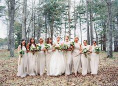 light gray bridesmaid dresses | Cassidy Carson