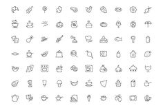 300 Food Hand Drawn Doodle Icons - Icons