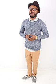 LIFETIME Spring '12 | Sweater, Shirt & Pants: LIFETIME | Glasses: SUPER | Hat: BRIXTON | Shoes: VANS