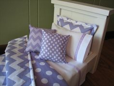 Chevron+Bedding+Set+for+American+Girl+Doll+or+by+MadiGraceDesigns,+$27.00