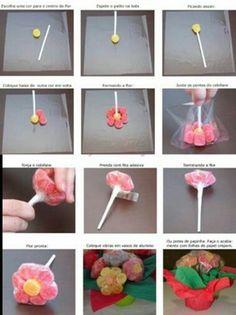 Chuches en forma de flor muy facil, paso a paso.