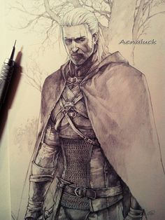 awsome drawing the witcher 3
