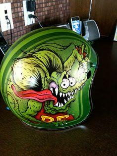 ~Rat Fink custom painted helmet