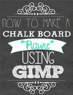 How to make your own super cute chalk board picture printable - full instructions and tutorial included