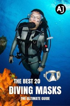 A great and informative article. Discover the best 20 diving masks available on the market. Don't let a bad mask ruin your next dive. Find out what to look for in a dive mask and find the one that suits your needs best. Scuba Diving Quotes, Scuba Diving Mask, Dive Mask, Best Scuba Diving, Cave Diving, Sea Diving, Belize Diving, Snorkel Mask, Scuba Diving Magazine