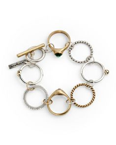 Paramour Bracelet // eclectic linked rings ~