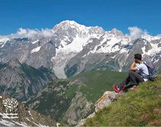 View of mont Blanc from Testa Licony (2.930 m), Morgex, Aosta, Italia