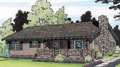 Rustic Ranch - 11374G   1st Floor Master Suite, Narrow Lot, PDF, Ranch   Architectural Designs