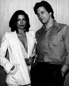 bianca jagger in white hot suit with jeff bridges