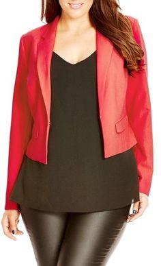 City Chic 'Everyday' Crop Jacket (Plus Size)