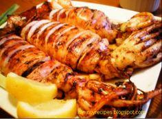 Grilled squid recipe