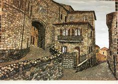 Mosaic Tile Art, Pebble Mosaic, Stone Mosaic, Pebble Stone, Stone Art, Mosaic Pictures, Marble Art, Rock Design, Stone Crafts