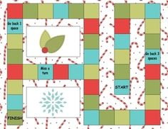 Open Ended Printable Game Boards - Happy Holidays   - Pinned by @PediaStaff – Please Visit  ht.ly/63sNt for all our pediatric therapy pins