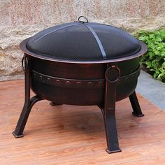 Fire Pit Sets, Wood Burning Fire Pit, Construction Design, Charcoal Grill, Wooden Flooring, Backyard, Steel, Outdoor Decor, Courtyards
