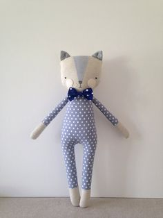luckyjuju kitty boy cat lovie doll от luckyjuju на Etsy