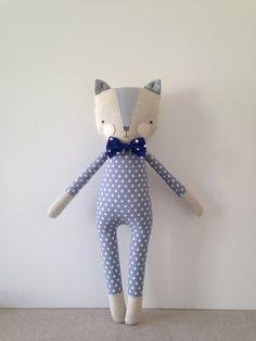 luckyjuju kitty boy cat lovie doll от luckyjuju на Etsy