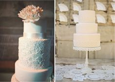 {Wedding Trends} : Lace Cakes - Part 3  | bellethemagazine.com