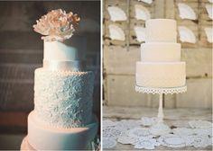 {Wedding Trends} : Lace Cakes - Part 3    bellethemagazine.com