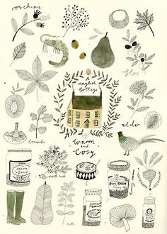 A collection of wild things. von Katfrankillustration