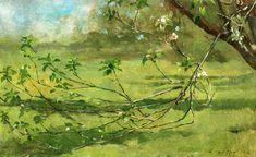 The Athenaeum - Apple Blossoms (Theodore Robinson - )