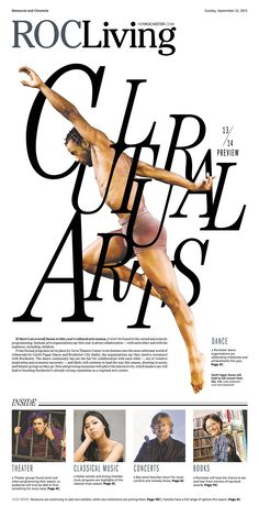 Editorial design is one interesting field that is combining our capabilities for clever compositions, editorial layout, and creative typography. Newspaper Layout, Newspaper Design, Editorial Layout, Editorial Design, Classical Music Concerts, Magazin Design, The Dancer, Magazine Layout Design, Creative Typography