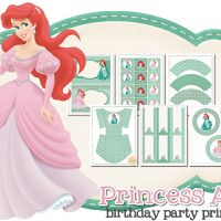 Princess Ariel Free Printable Kit.
