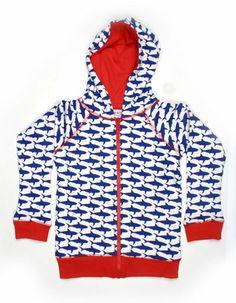 Omkeerbare hoodie met haaienprint - Baba Babywear