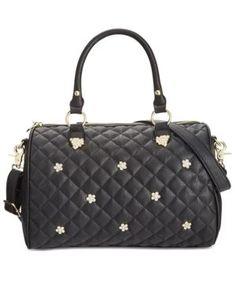 Betsey Johnson Rhinestone Stud Satchel, A Macy's Exclusive Style -