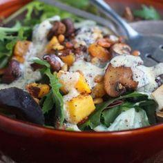 Roasted Mushroom & Butternut Squash Salad