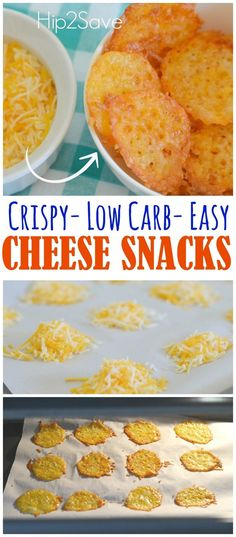Low Carb One Ingredient Cheese Snacks. This is fast, easy and yummy. If you're looking for a low carb, high protein snack to bring with you to work or to snack at home, then this is a recipe you want to try. Discover more recipes, ways to save, and craft ideas at Hip2Save.com