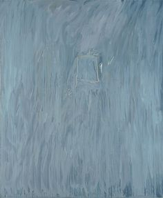 """Untitled, 1969, House paint and crayon on canvas 200 × 166 cm 78¾ × 65¼"""""""