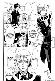 Black Butler ~~ Snake joins the Phantomhive staff, manga-style. :: Check out Finny. He is delighted to have new friends!!
