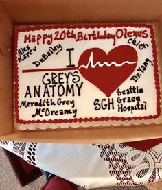 My greys anatomy cake