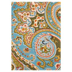 Handmade rug with a multicolor paisley motif.     Product: RugConstruction Material: 100% PolyesterColor...