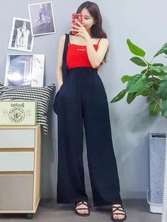 korean fashion trends looks stunning… - Prom Dress Korean Fashion Casual, Korean Fashion Trends, Korean Street Fashion, Ulzzang Fashion, Korea Fashion, Korean Outfits, Asian Fashion, Trendy Outfits, Summer Outfits