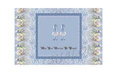 Wedding Card Roses n Lace Victorian Shabby Chic - Digital Printable Download (Blank inside) by TreasuresOfJen on Etsy