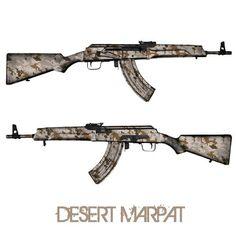 GunSkins AK-47 Skin Camouflage Wrap Kit Desert Marpat #NLV #NEWLINEVENTURE #USA #America #UnitedStates #AR15 #M4 #Airsoft #Camo #Camouflage #Wrap #Atacs #Rifle #Gun #Skin #GunSkins #Gunskin #Tactical #Military #USMC #Army #Soldier #Weapon #Firearm #AK #AK47   www.newlineventure.com  www.nlv.la