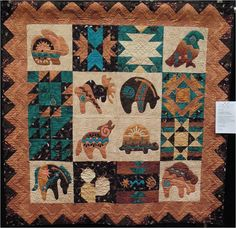 Join us for Day 6 in the desert at the Arizona Quilters' Guild 2013 show. We have some eye-catching quilts to show you, whose colors and pat.Delightful Arizona Centennial Challenge by CJ FuhrmannSouthwest Style Quilt Patterns Southwest Style Quilt Kits Fi Native American Animals, Native American Design, Southwestern Quilts, Southwestern Style, Indian Quilt, Indian Rugs, American Quilt, American Decor, Lego