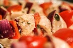 Chicken Souvlaki--can be done in the oven, or on the grill.