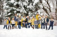 to dress for family photos with over 100 ideas in all colors, Picture Clothes by Color Series-Yellow. Capturing-How to dress for family photos with over 100 ideas in all colors, Picture Clothes by Color Series-Yellow. Family Photo Sessions, Family Posing, Family Portraits, Family Family, Winter Family Photos, Large Family Photos, Family Picture Colors, Family Picture Outfits, Extended Family Pictures